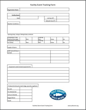 Facility Event Tracking Form